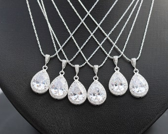 set of 6 bridal party jewelry , bridesmaid jewelry , wedding party jewelry