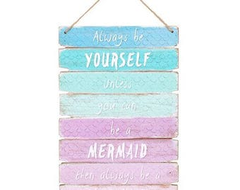 Mermaid Wooden Sign