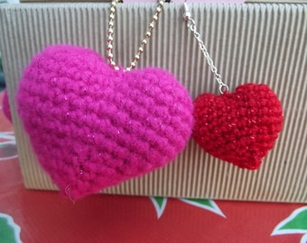 Crochet Pattern-Heart hanging ornaments- 2 sizes PATTERN ONLY