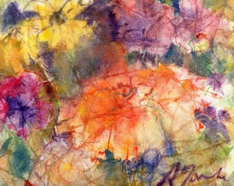 Batik Style No.43/Flowers, limited edition of 50 fine art giclee prints