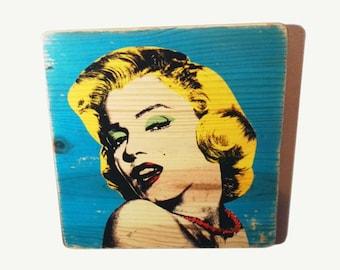 Andy Warhol poster - MARILYN - poster - print - art - gift. for. men. women - Marilyn Monroe - wall art - wood - film poster