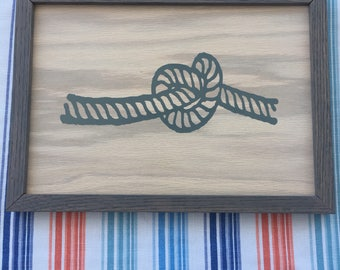 Simple Rope Knot Framed Picture