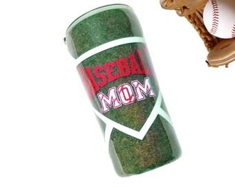 Baseball Mom Tumbler - Travel Coffee Mug - Yeti Tumbler - Mom Tumbler - Baseball Lover Gift - Sport Tumbler - Baseball Yeti - Gift for Mom