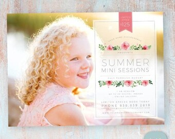 ON SALE Summer Mini Sessions Marketing Board - Photoshop Newsletter template - IH015 - Instant Download