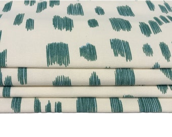 Brunschwig & Fils Les Touches Aqua Made To Measure Professionally Made Roman Blind