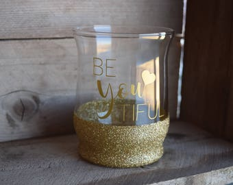 Glitter Dipped Makeup Brush Holder, Be You Tiful