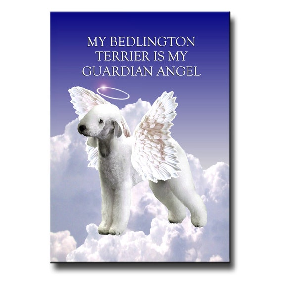 Bedlington Terrier Guardian Angel Fridge Magnet