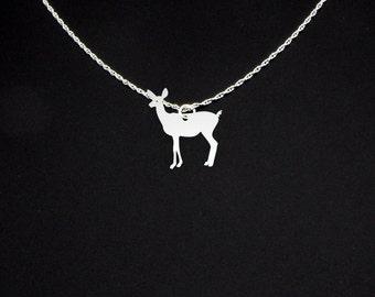 Deer Necklace Doe - Doe Necklace - Deer Jewelry - Deer Gift