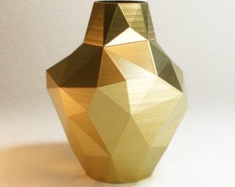 Decorative Vases Modern Gold Vase Abstract Zen Decor Golden Decor Golden Triangle Vase Gold Decor Gold Bud Vase Modern Vase