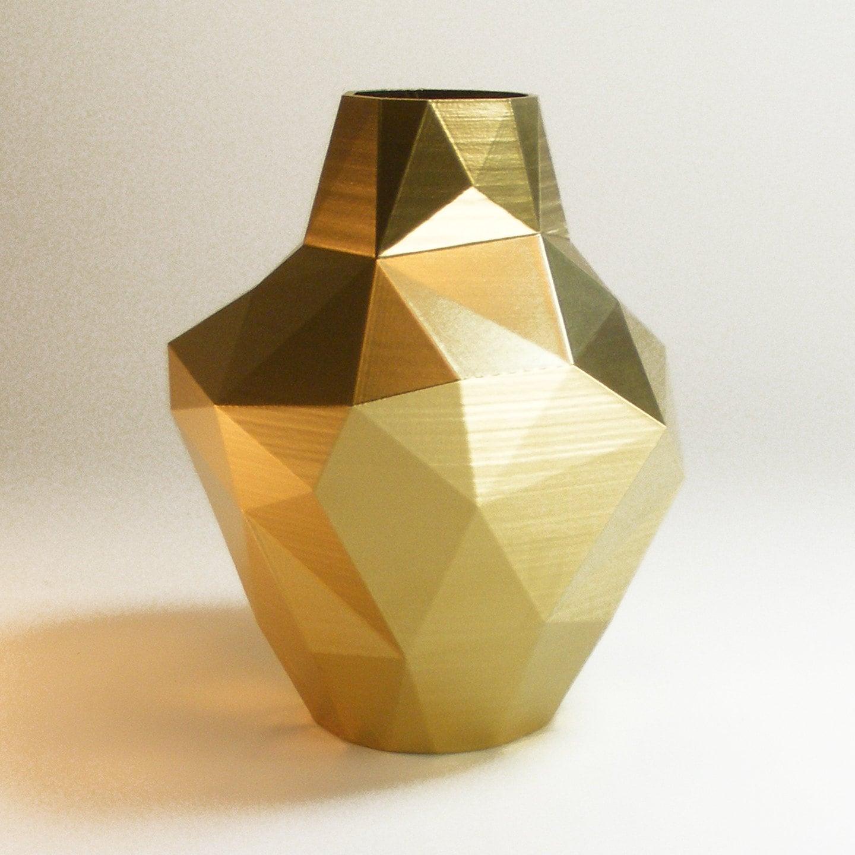 Decorative Vases Modern Gold Vase Abstract Zen Decor Golden