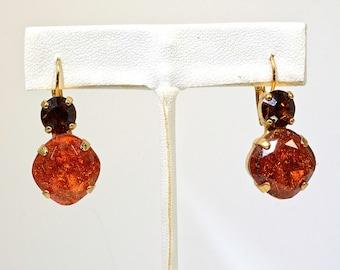 Drop Cinnamon Orange Earrings