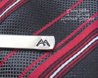 Mountain Tie Clip, Custom Tie Clip, Personalized Tie Clip, Bestman Gift, Groomsman Gift, Wedding Gift, Groomsmen Gift, Fathers Day Gift