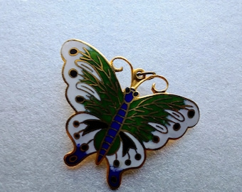 Metallic Gold Embellished Butterfly Pendant/Pin