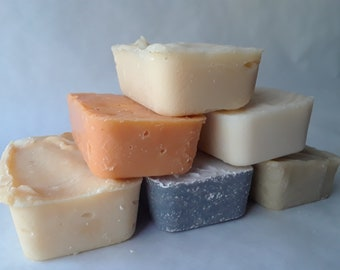 Travel size Soap Bars 2 + oz, Handcrafted Soap, Unscented Soap, Sample Soaps,