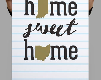Home Sweet Home, Engagement Gift, Home Sweet Home Print, Couples Gifts, Christmas Decorations, Christmas Decorations Prints, New Home Gift
