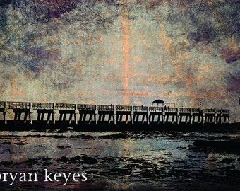 "Lake Worth Pier photograph on 24"" x 36"" canvas"