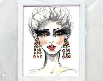 Christmas Gift for Beauty Blogger - gift for makeup artist - Wall art for beauty salon - christmas gift for blogger