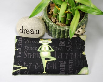 Yoga Frogs Small Pillow