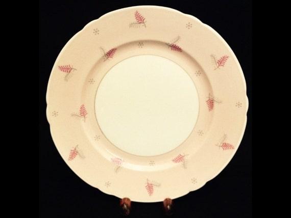 "FREE SHIPPING-Shelley-Pink-Mid Century-Pattern Lyric-Made England-Fine Bone China-8""-Salad/Dessert Plate"
