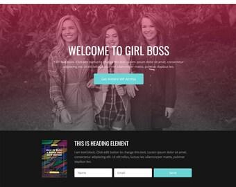 Wordpress Theme | Responsive Wordpress Theme | GirlBoss Collective
