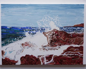 """Original Handmade artwork - Acrylic Painting on stretched canvas """"Mistral"""" by Paolo Garau"""