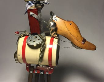 Hi Ho Sifter! • Assemblage Art Cowboy and Horse Robot Sculpture