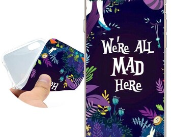 Fundas Alice in Wonderland Clear Soft TPU Silicone Case for iPhone X 8 7 6 6S Plus SE 5S 5 Cover for iPod Touch 6 5 Case.