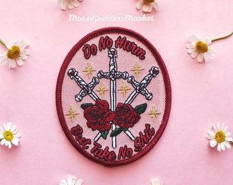 "Moon Goddess Market Original Do No Harm But Take No Sh*t Patch! 3"" Iron on patch"