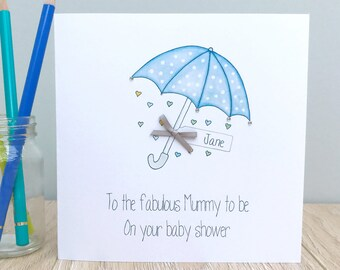 High Quality Personalised Baby Shower Card ...