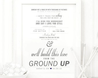 From the ground up etsy dan shay from the ground up grey and navy valentines stopboris Images