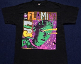On Sale 28% Vintage The Flaming Lips 90s Rare T Shirt