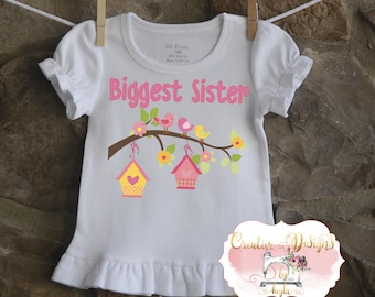 Sister Sibling Shirt, Spring, Birds, Bird House