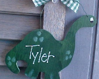 Christmas Ornament Dinosaur Personalized Child Boy Gift Country Ornie