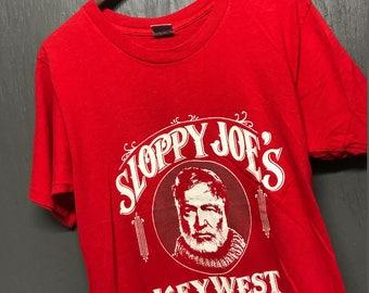 M vintage 80s Ernest Hemingway Sloppy Joe's key west Florida t shirt