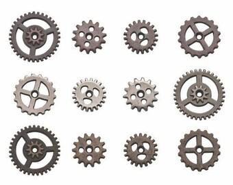 Craft Embellishments. Tim Holtz Idea-ology- Mini Gear- one pack