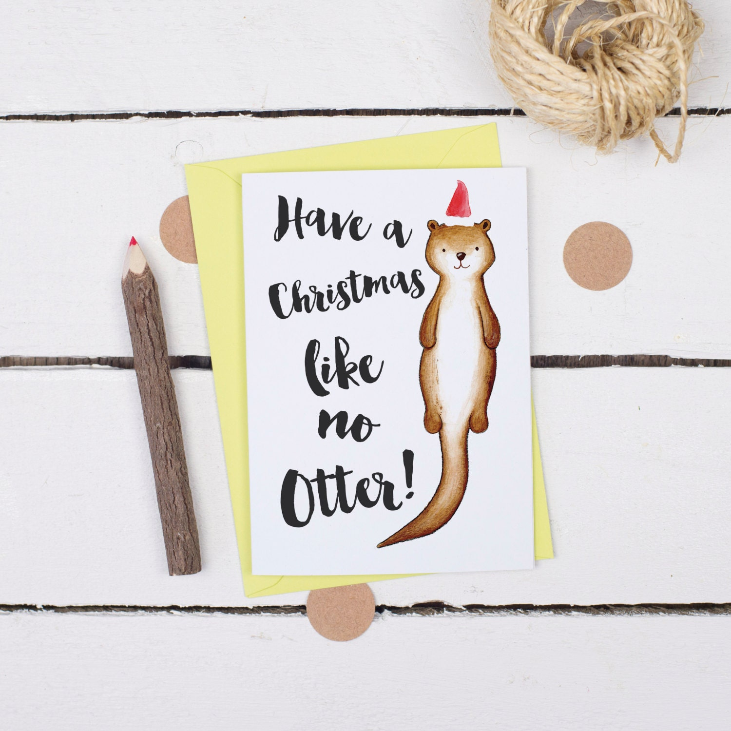 Funny christmas card a christmas like no otter cute animal zoom kristyandbryce Image collections