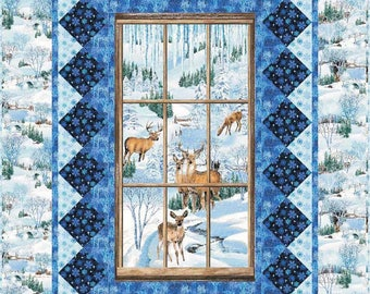 Winter's Eve Quilt Kit. Featuring Exclusively Quilters Fabrics. Designed By Terry Albers
