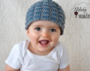 Knit Hat Pattern - Baby Hat Knitting Pattern - Beanie Knit Pattern for Boys - Baby Knit Hat Pattern - Knit Hat Pattern for Boys