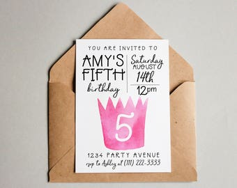 Princess Birthday Invitation Princess Birthday Invite Princess Printable Princess Invite Editable Princess Invitation Birthday Invite