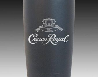 Crown Royal 20 oz yeti cup custom