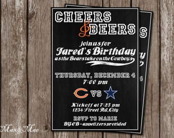Football Party Invitation, Football game appetizer invitation, Tailgate Party, Digital file, Printable
