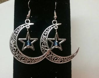 Moons and stars earrings