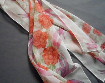 Rose-Patterned Foulard
