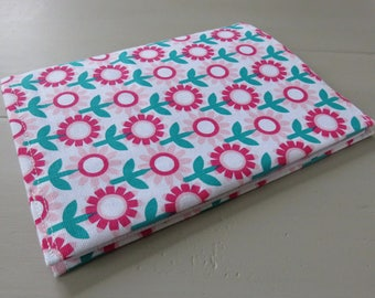 """Book and her notebook fabric cover """"vintage flowers"""""""