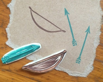 Bow and Arrow Rubber Stamp Set