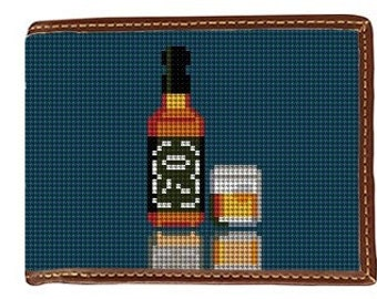 Whiskey Needlepoint Wallet Canvas