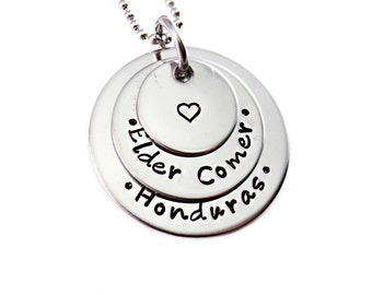 Personalized Missionary Necklace - Engraved Jewelry - Personalized Necklace - Mission Calling - LDS - Elder Sister - Religion Jewelry - 1390