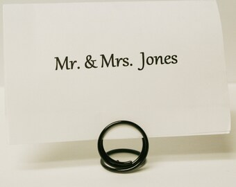 Black Name Card Place Holders Set of 20 (small)