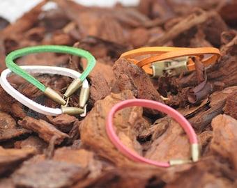Genuine handmade leather bracelet