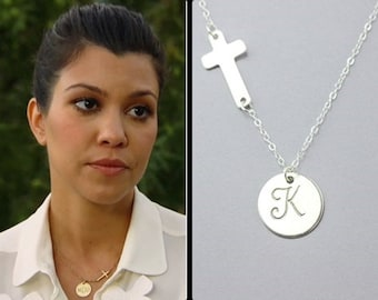 Infinity necklace personalized charm necklace sterling cross initial necklace personalized monogramming charm necklace all sterling silver initial celebrity inspired necklace aloadofball Gallery